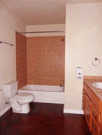 Spacious guess bathroom