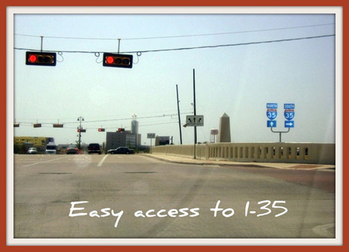 1.5 miles from I-35