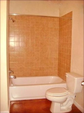 Italian tile in bathrooms